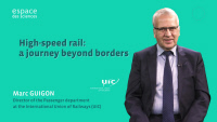 Marc Guigon, UIC Director of Passenger Department, explaining the high-speed rail concept (FR with EN subtitles)