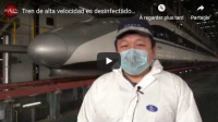 [CHINA] Tren de alta velocidad es desinfectado en China [High speed train is disinfected in China]