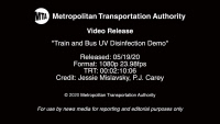 [USA] MTA Video Release: Train and bus UV disinfection demo