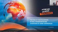 1er webinaire digital : les jeudis des chemins de fer africains, 1er octobre 2020