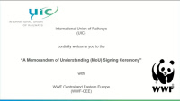 Screeshot - Memorandum of Understanding (MoU) signed between UIC and the World Wildlife Fund Central and Eastern Europe (WWF-CEE), 18 November 2020