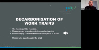 Decarbonisation of work trains, 18 March 2021