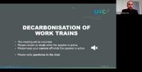 Décarbonisation des trains de travaux, 18 mars 2021