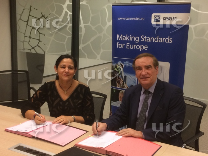 Signature of Cooperation Agreement CEN - CENELEC - UIC, 9 November 2018, Brussels