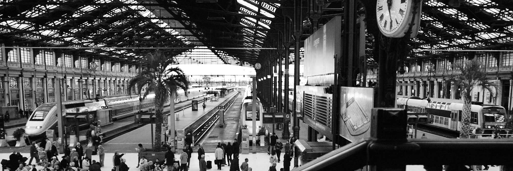Paris Gare de Lyon train station, France
