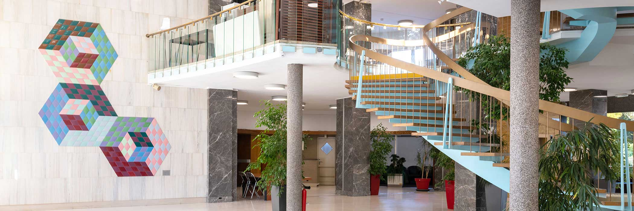 UIC headquarters in Paris, entrance hall, France